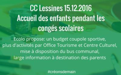 Préparation Conseil Communal 15.12.2016