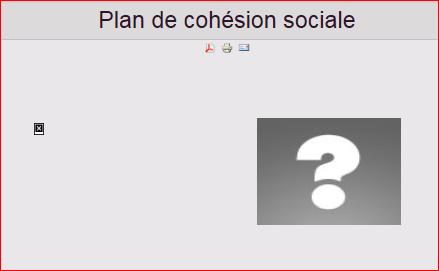 le-plan-de-cohesion-sociale-en-question