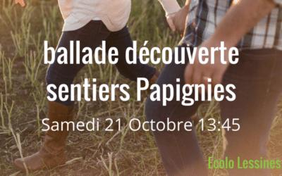 Semaine des Sentiers 21 Octobre 2017 – Ballade découverte à Papignies