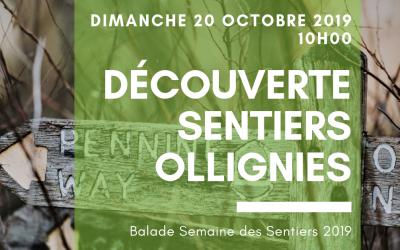 Semaine Sentiers 2019. Promenade découverte des chemins et sentiers du centre de Ollignies